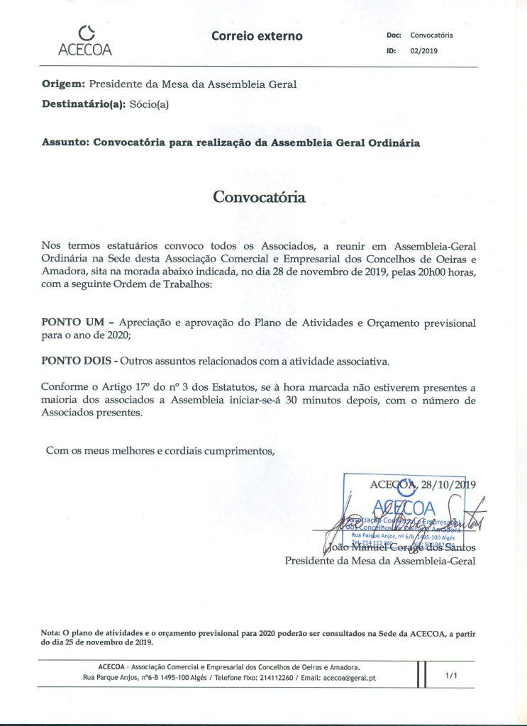 Convocatória AO nov19